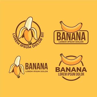 Conjunto de modelos de logotipo de banana