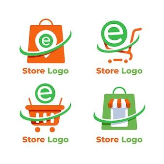 Conjunto de modelos de logotipo de comércio eletrônico