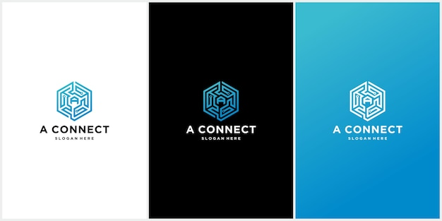 Conjunto de modelos de logotipo de conexão