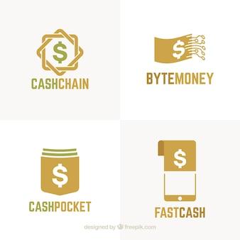 Conjunto de modelos de logotipo de dinheiro