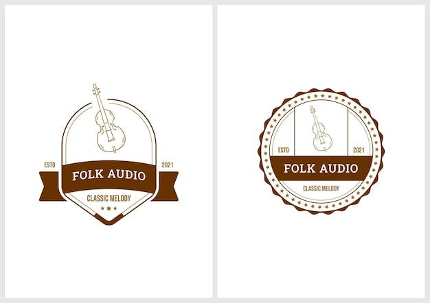 Conjunto de modelos de logotipo de emblema premium