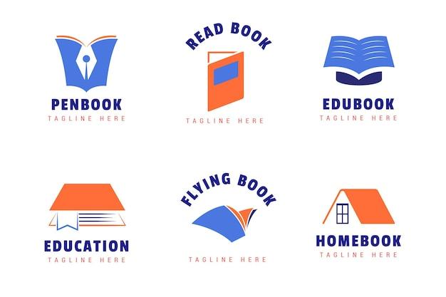 Conjunto de modelos de logotipo de livro