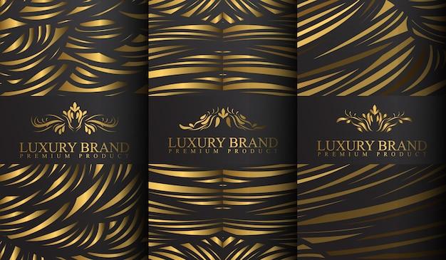 Conjunto de modelos de logotipo de luxo