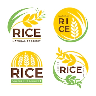 Conjunto de modelos de logotipo de negócios de grãos