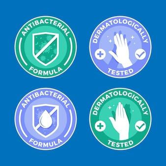 Conjunto de modelos de logotipo de sabão desenhado