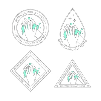 Conjunto de modelos de logotipo de sabão