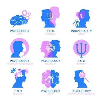 Conjunto de modelos de logotipo de saúde mental