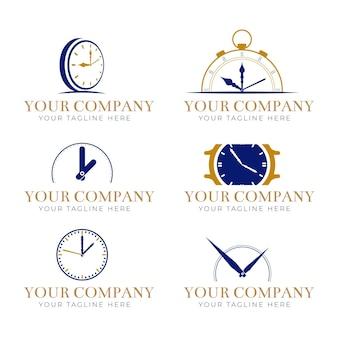 Conjunto de modelos de logotipo de tempo