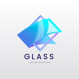 Conjunto de modelos de logotipo de vidro gradiente
