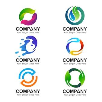 Conjunto de modelos de logotipo letra o