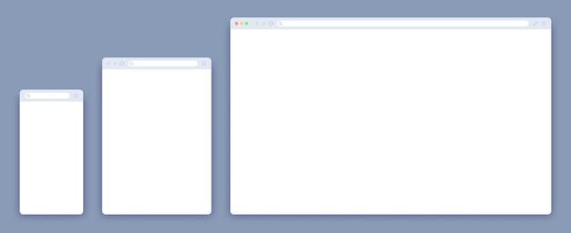 Conjunto de modelos de navegador