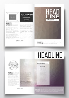 Conjunto de modelos de negócios para brochura
