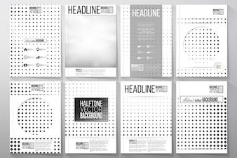 Conjunto de modelos de negócios para folheto, panfleto ou brochura. Fundo de meio-tom.