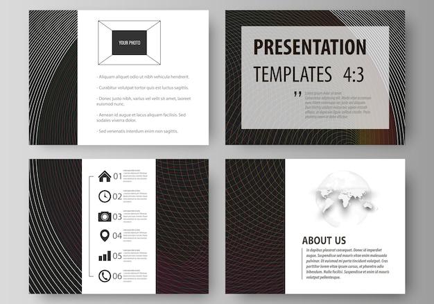 Conjunto de modelos de negócios para slides de apresentação