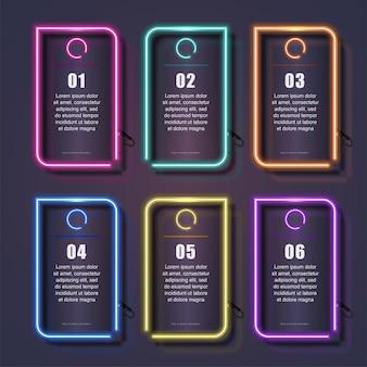 Conjunto de modelos de néon