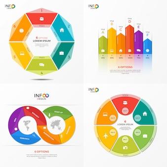 Conjunto de modelos de opções de infográfico