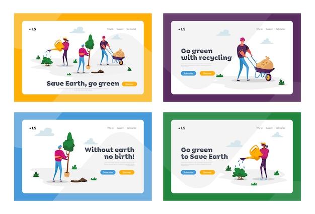 Conjunto de modelos de página de destino do aquecimento global
