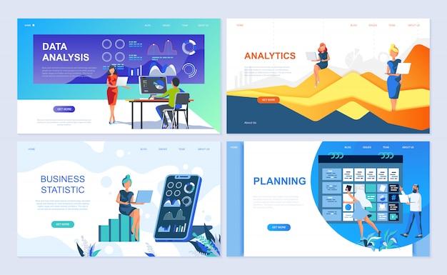 Conjunto de modelos de página de destino para análise de dados