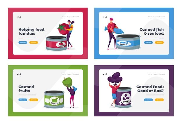 Conjunto de modelos de página inicial de fabricação de produtos agrícolas