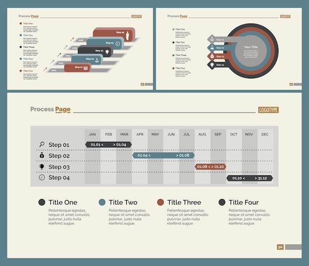 Conjunto de modelos de planejamento de três planos