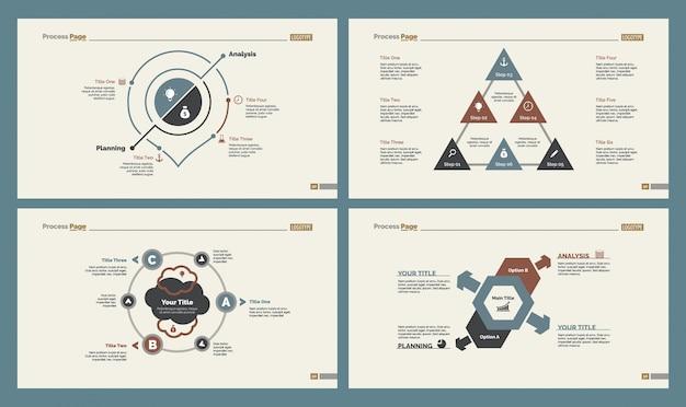 Conjunto de modelos de quatro setas de negócios