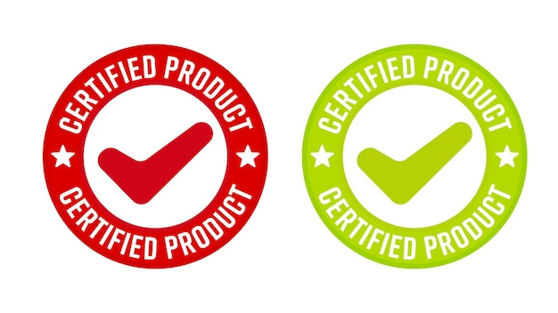 Conjunto de modelos de selo de qualidade de produto certificado
