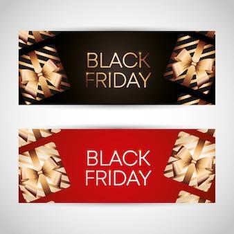 Conjunto de modelos de sexta-feira negra com caixa de presentes