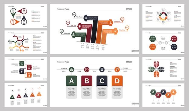 Conjunto de modelos de slide de dez gráficos de marketing