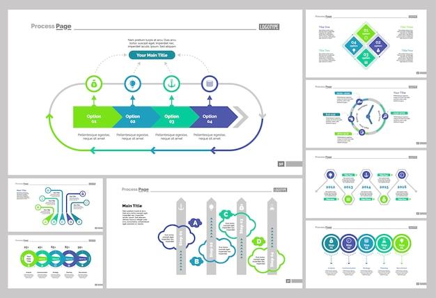 Conjunto de modelos de slide de gerenciamento oito