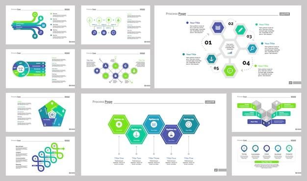 Conjunto de modelos de slide de produção de dez