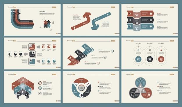 Conjunto de modelos de slide de seis gráficos de planejamento