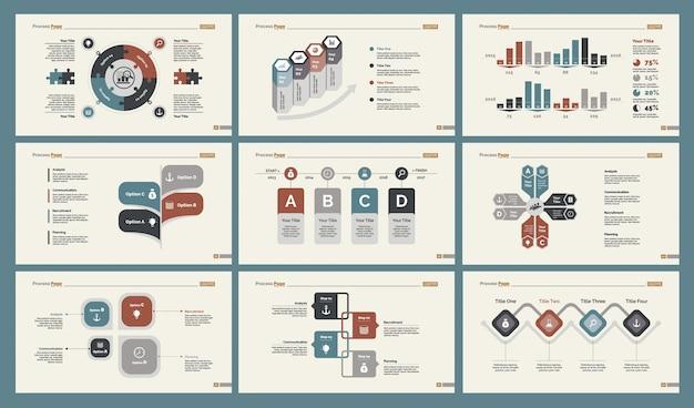 Conjunto de modelos de slide de seis treinamentos