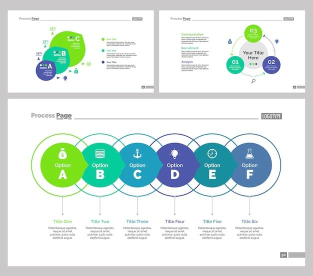Conjunto de modelos de slide de três finanças