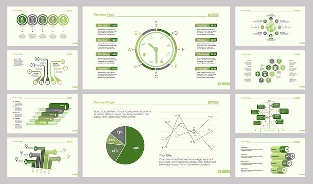 Conjunto de modelos de slides de 10 logísticas