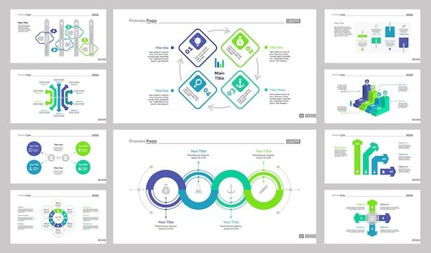 Conjunto de modelos de slides de 10 trabalhos em equipe