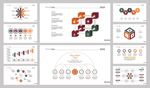 Conjunto de modelos de slides de dez bancos