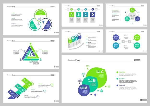 Conjunto de modelos de slides de oito modelos de recrutamento
