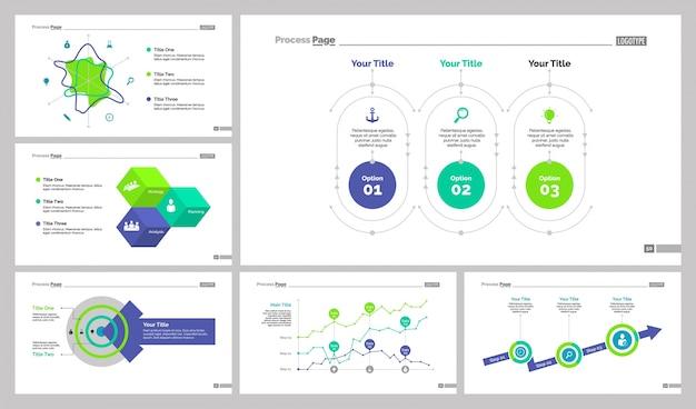 Conjunto de modelos de slides de seis bancos