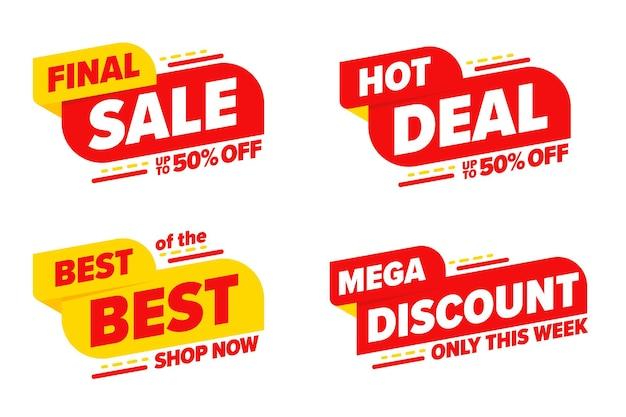 Conjunto de modelos de tempo limitado de mega desconto de venda final.