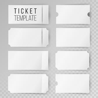 Conjunto de modelos de ticket
