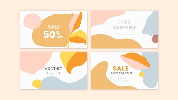 Conjunto de modelos de venda de memphis colorido
