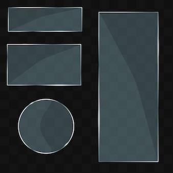 Conjunto de modelos de vidro