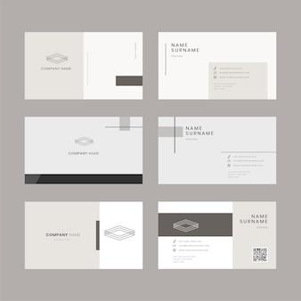 Conjunto de modelos editáveis de cartão de visita