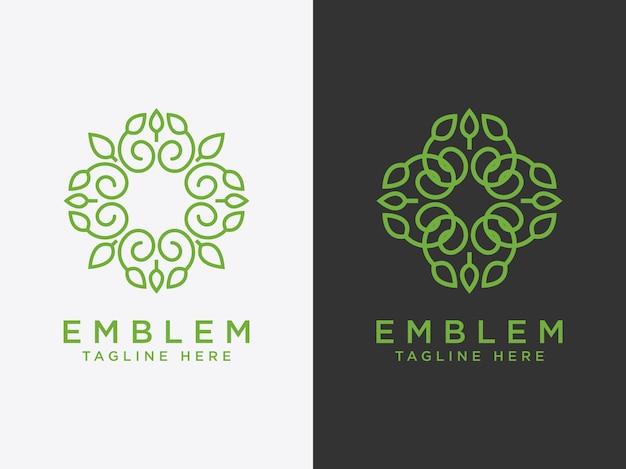Conjunto de modelos logotipo da flor ícone da flor emblema da flor