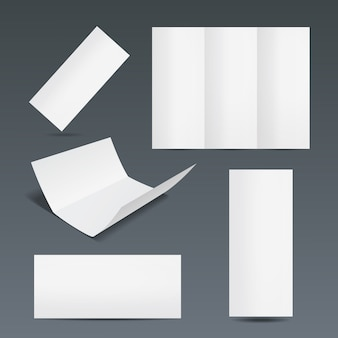Conjunto de modelos para uma brochura ou folheto informativo