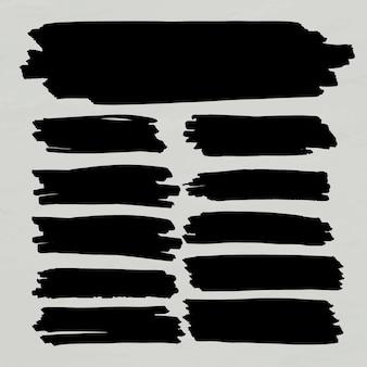 Conjunto de moldura de banner com marcador preto