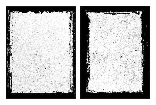 Conjunto de moldura de borda abstrata de grunge