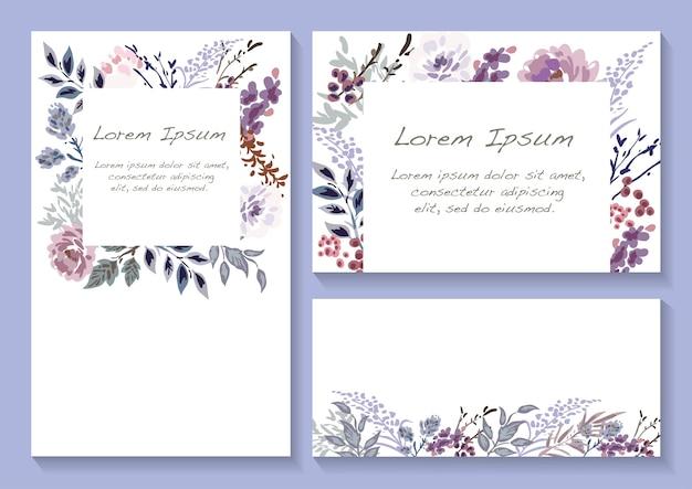 Conjunto de moldura de flor de primavera com espaço de texto isolado