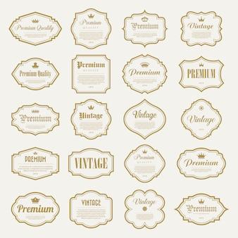 Conjunto de moldura de ouro vintage