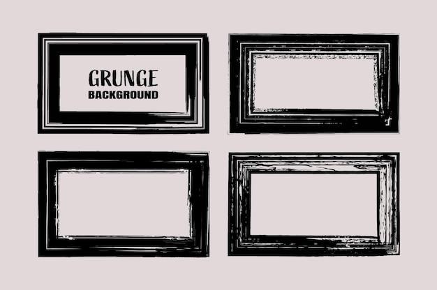 Conjunto de moldura grunge angustiado